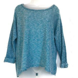 Torrid Light Blue Hi-Lo Knit Crew Neck Sweater EUC